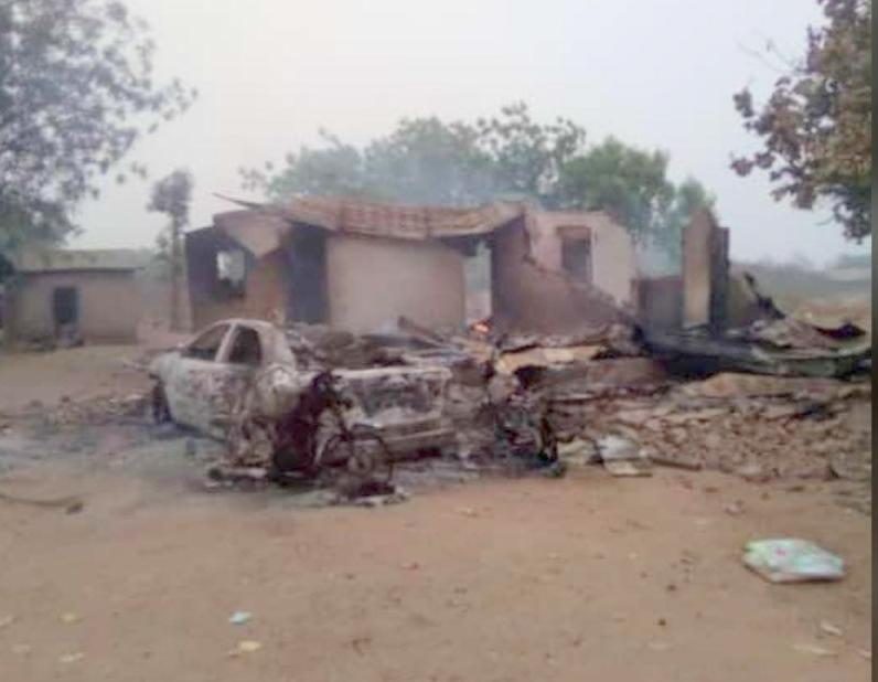 Burnt Houses and cars