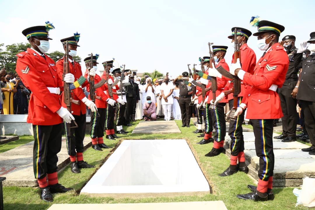 Burial parade in honour of the late Assistant Inspector-General of Police (AIG), in charge Police Armament, Force Headquarters Abuja, Omololu Bishi