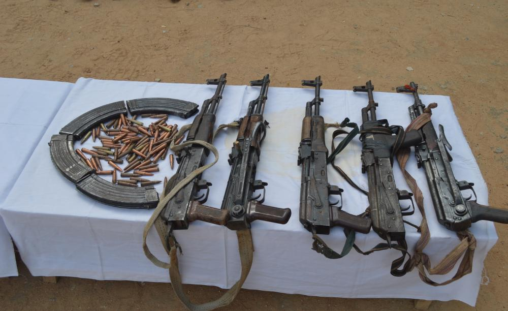 Weapons recovered