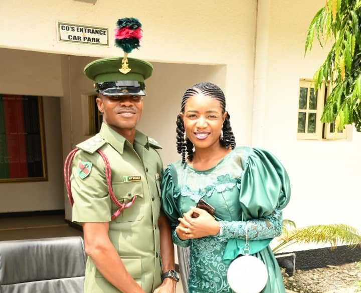 The late Colonel Felix Kura with his wife, Susan, when he was decorated as a captain in August, 2020