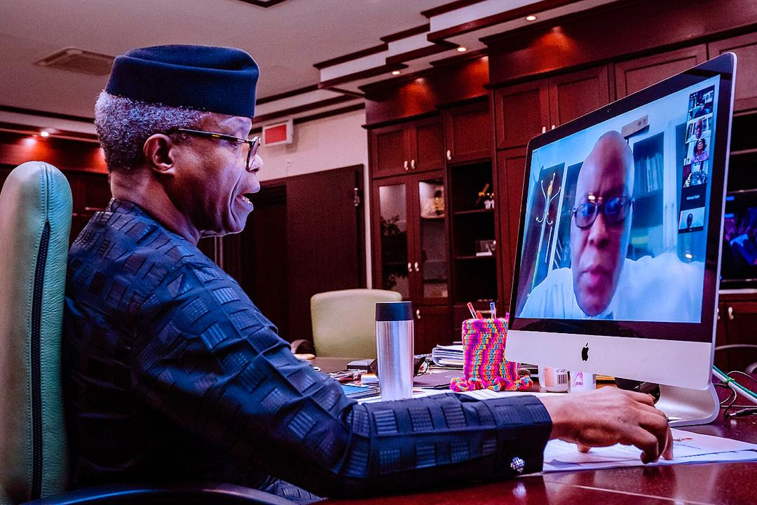 Vice President Yemi Osinbajo, SAN, speaking yesterday while being briefed on the report by a team of scientists. (Photo Credit: Tolani Alli)