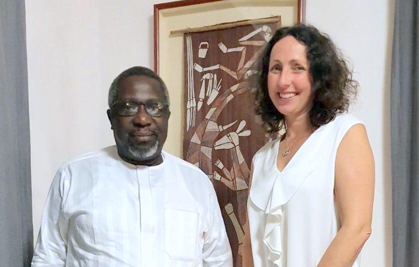 Australian High Commissioner to Nigeria, Claire Ireland and PREMIUM TIMES' Publisher Dapo Olorunyomi