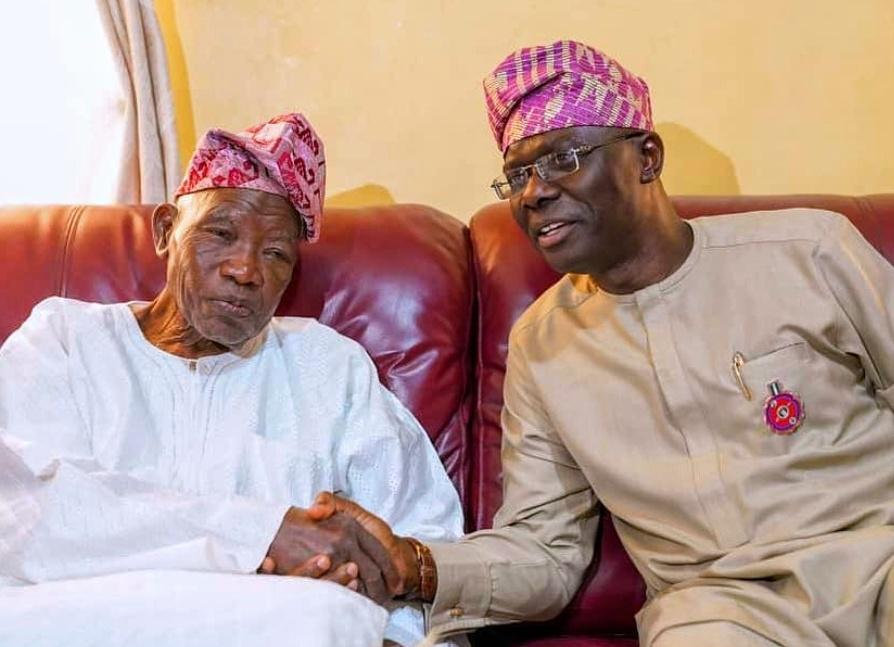 Lagos State Governor, Mr. Babajide Sanwo-Olu with Baba Jakande