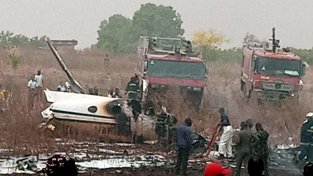 Scene of aircraft crash. [PHOTO CREDIT: Twitter]