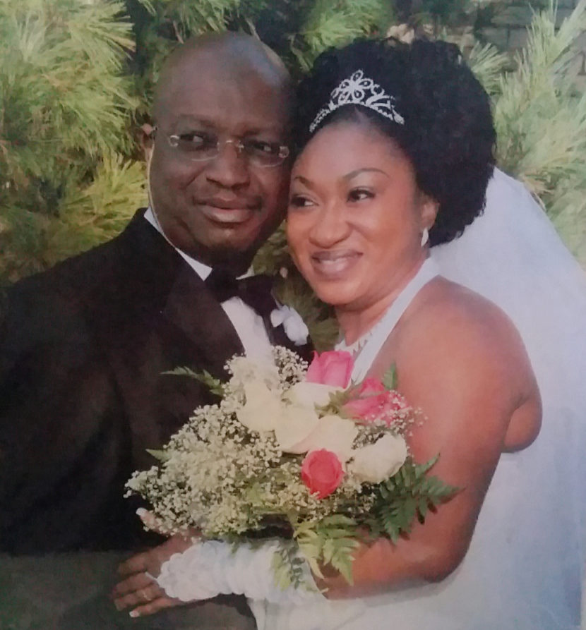 Adetokunbo and Katherine Daramola during happier times.