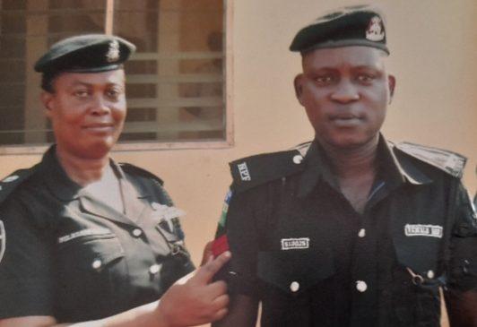 Late Rafiu Fawale in a photo with his DPO, FolashadeOdoro