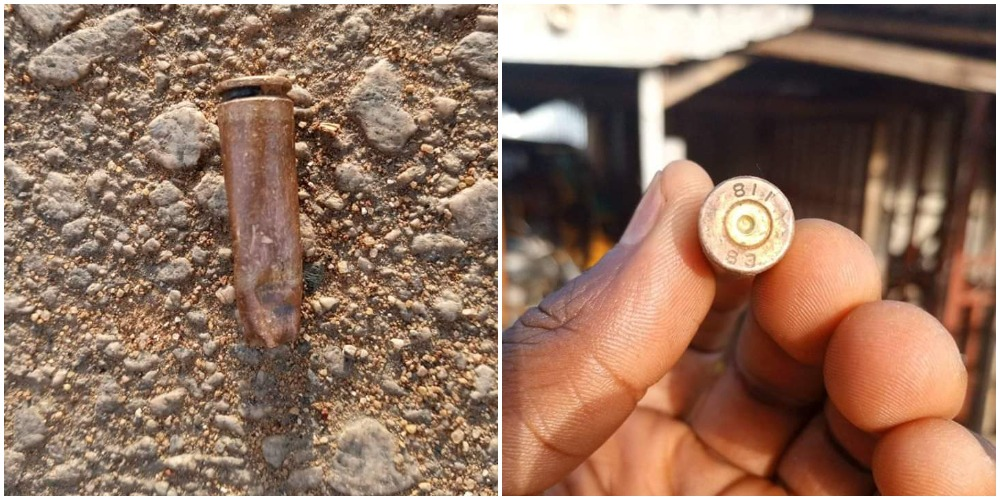 Some bullets retrieved after the attack