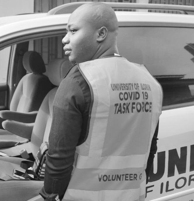 Member of COVID-19 taskforce in university of Ilorin (photo credit: @wisdom_okonko)