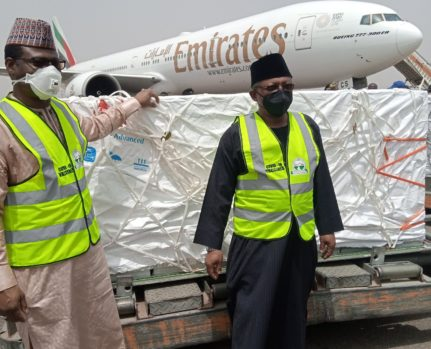 Nigeria takes delivery of the first batch of Oxford-AstraZeneca #COVID19Vaccines from #COVAX.
