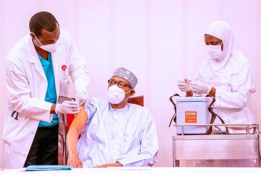 President Muhammadu Buhari have taken the AstraZeneca COVID-19 vaccine. [PHOTO: Presidency]