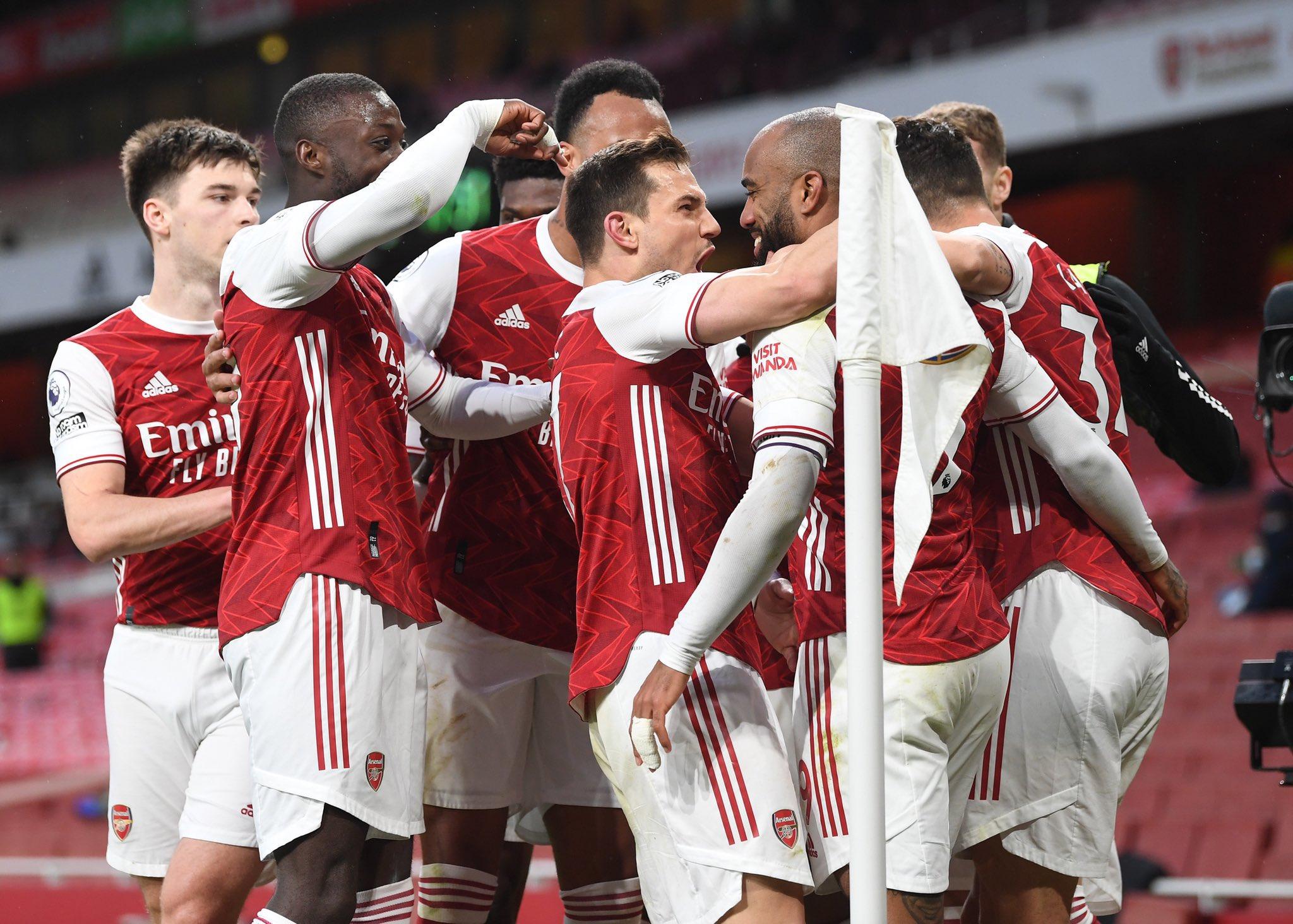 Alexander Lacazette for Arsenal [PHOTO CREDIT: @Arsenal]