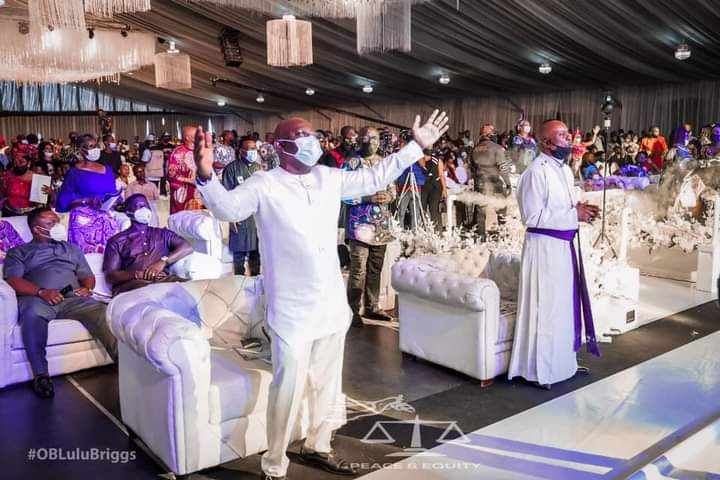 Many came out to honour late O.B Lulu-Briggs