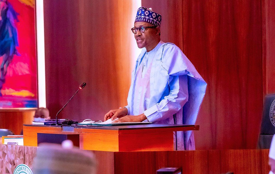 President Muhammadu Buhari speaking with Fertilizer Producers and Suppliers Association of Nigeria (FEPSAN)
