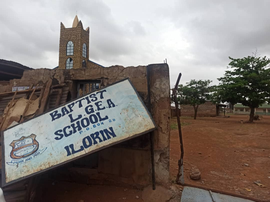 Signpost removed at Baptist Secondary school