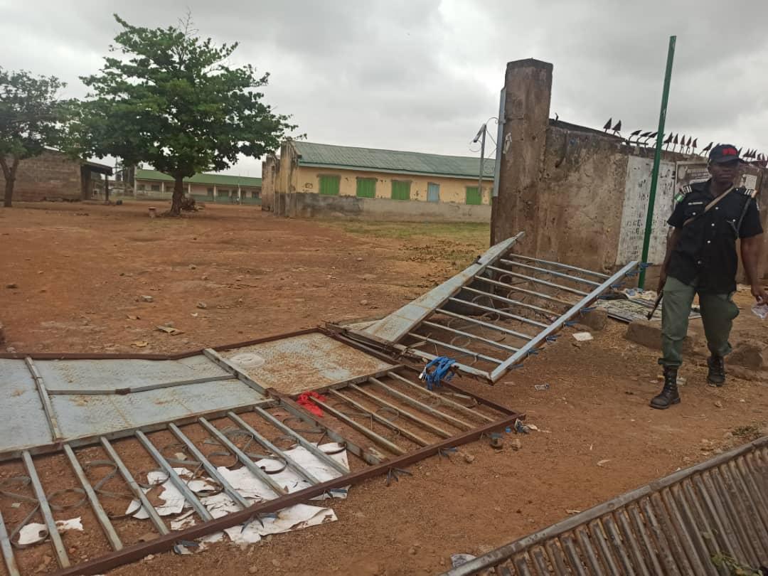 Baptist Secondary school's gate  vandalised