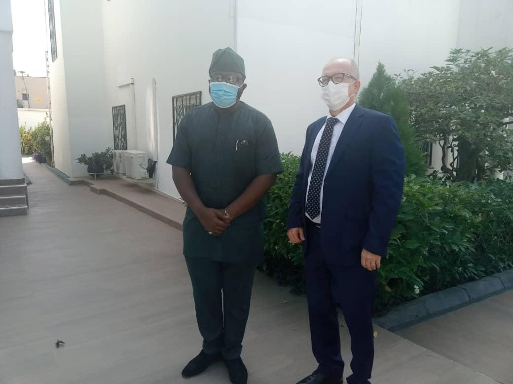 Bankole Oloruntoba with the Finnish Ambassador to Nigeria