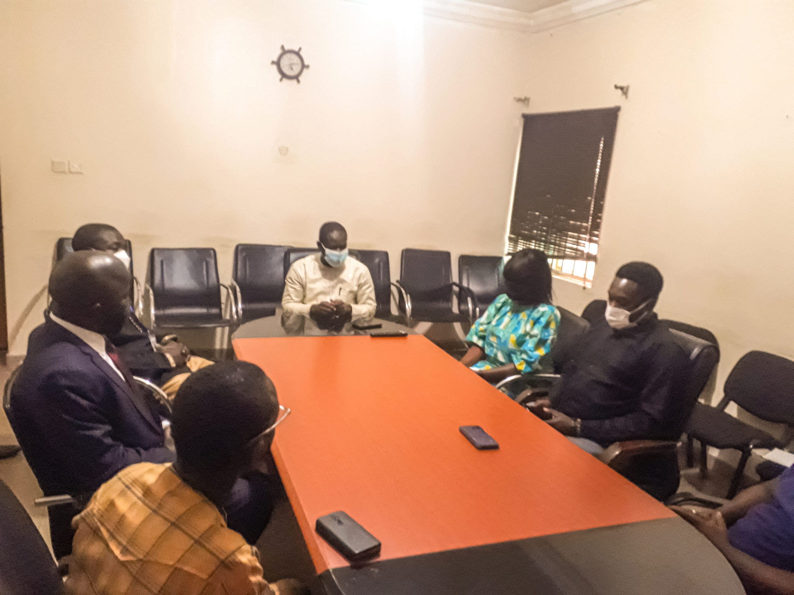 Mayor, Jefferson Koijee and his team during visit to PREMIUM TIMES