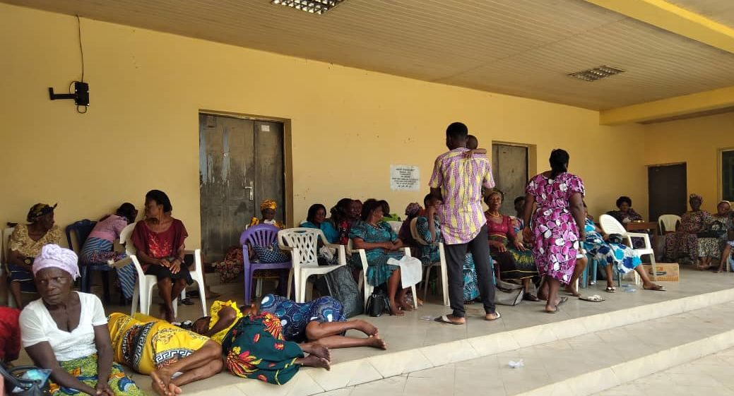 Displaced people from Essien Udim, Akwa Ibom State, after a military operation in the area