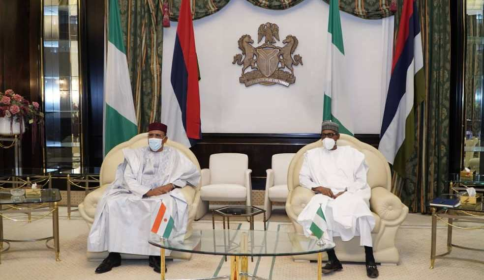 President Muhammadu Buhari and newly elected Nigerien President, Mohamed Bazoum
