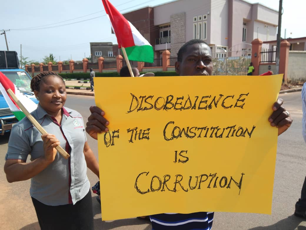 Judiciary workers' strike protest
