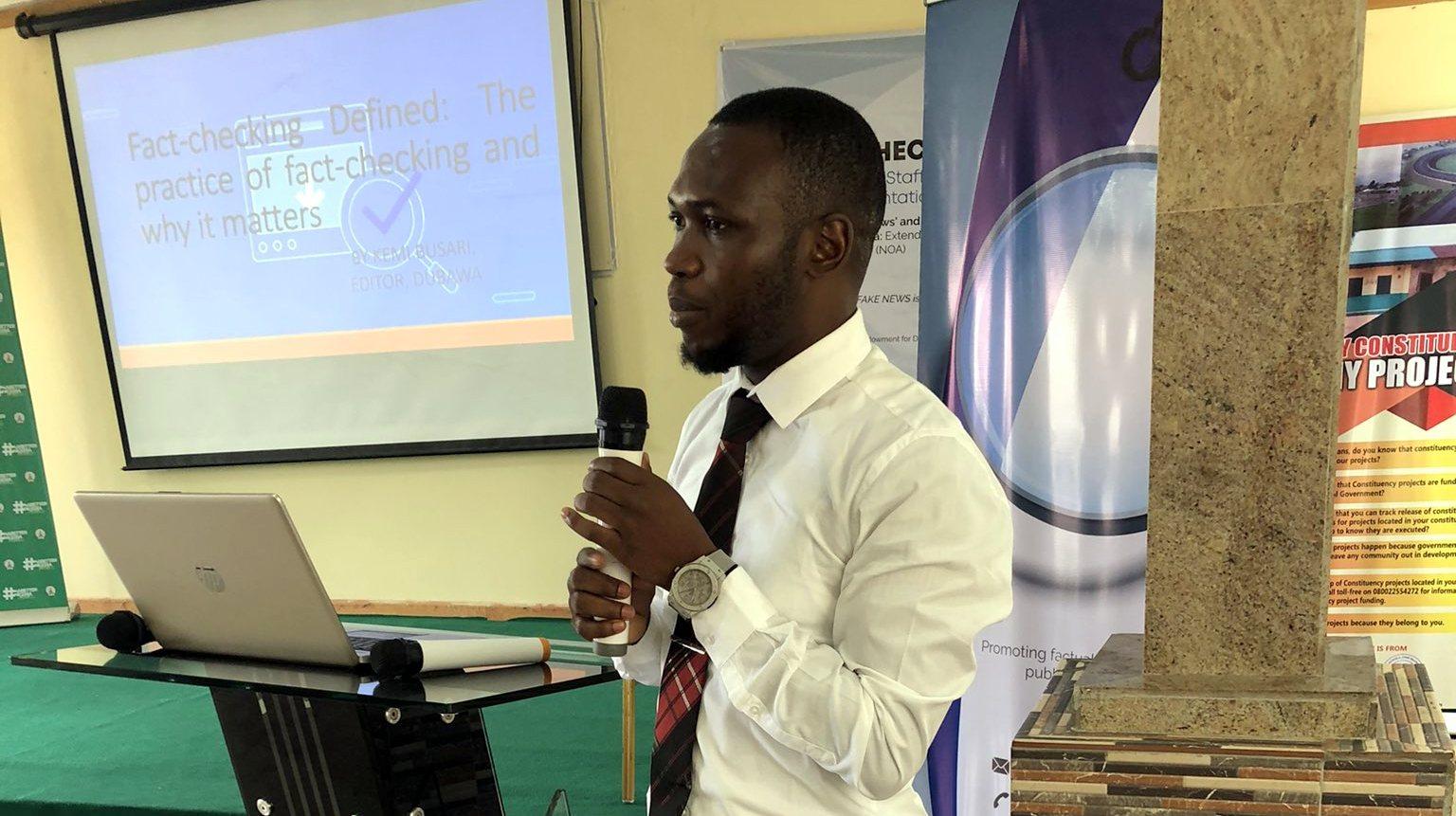 The Editor of Dubawa, Kemi Busari