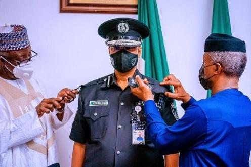 Osinbajo decorates Alkali as Nigeria's new police chief