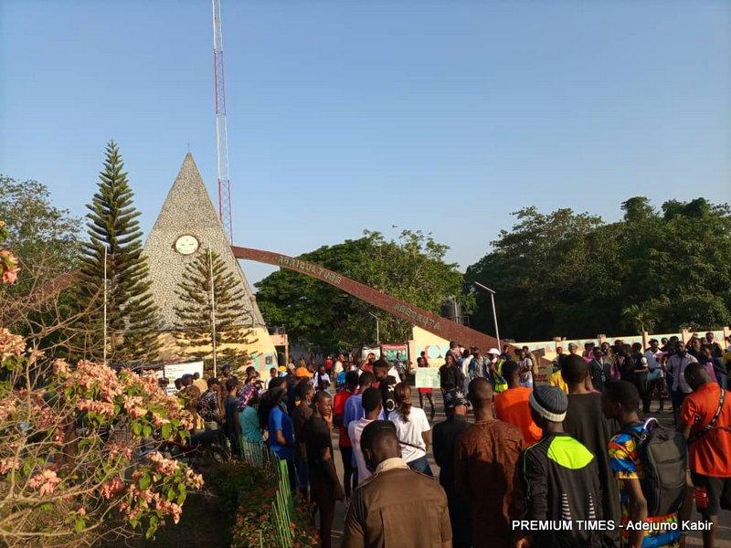 Protests in Abeokuta over FUNAAB student kidnap