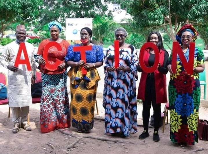 Advocates commemorating the 2021 World Menstrual Hygiene Day