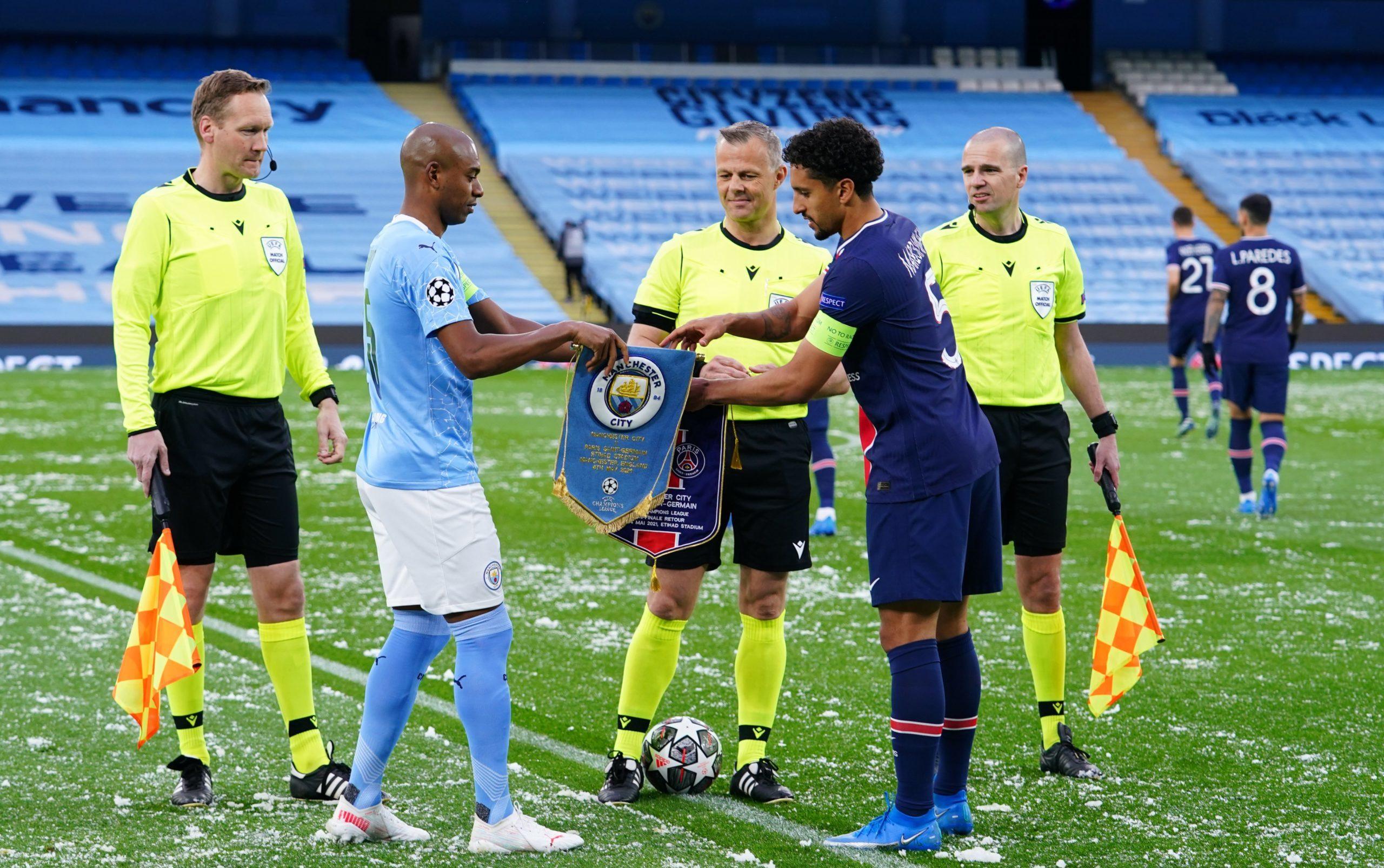 Man. City vs PSG [PHOTO CREDIT: @ChampionsLeague]