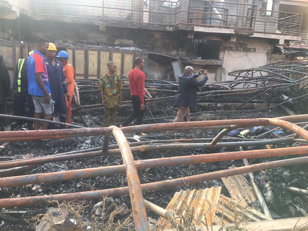 Kairo Market, Oshodi, after the fire incident