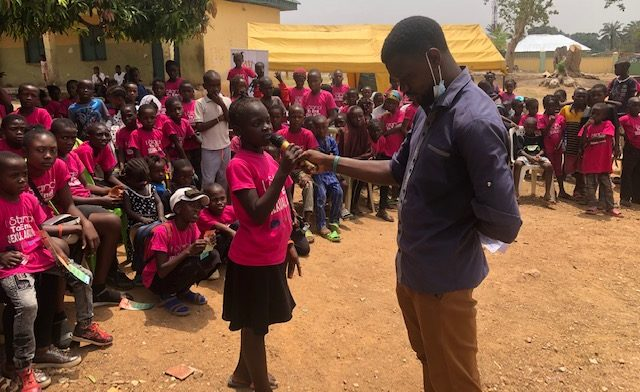 Teen advocates against sexual abuse speaking at the event in Tacha1