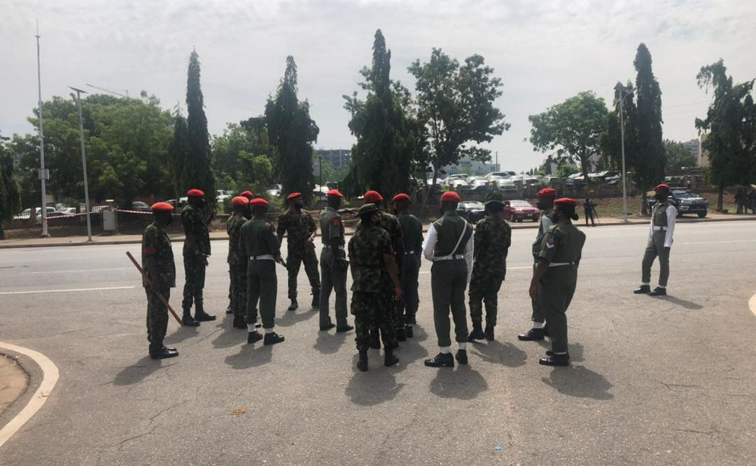 Men of the Nigerian Army military police are already stationed at the National Mosque, venue of the final interment prayer for the late Army chief.