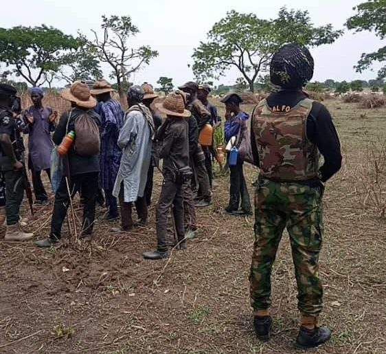 The persons intercepted by the military in Tafa village in Kagarko Local Government Area