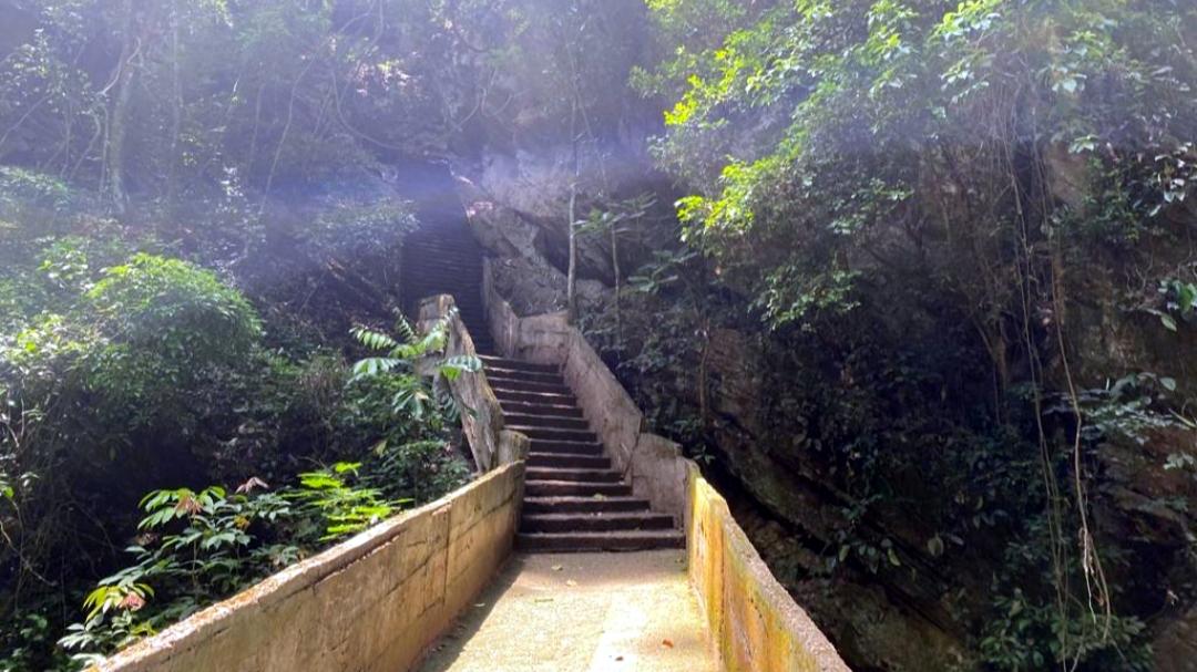Stairs leading to Erin-Ijesha water