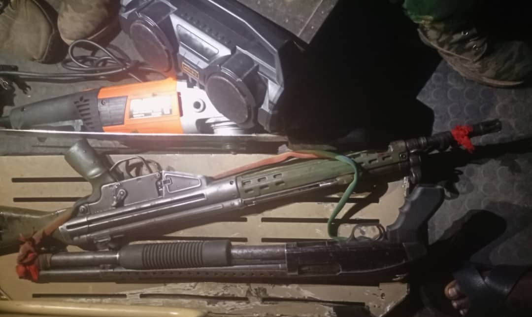 Weapons recovered from ESN terrorists neutralized by security agents [PHOTO: Nigerian Army]