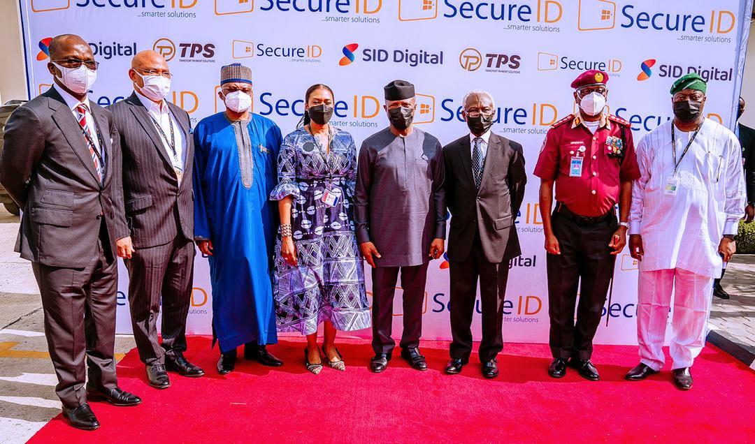 Vice President Yemi Osinbajo SAN, tours smartcard manufacturing facility, SecureID, in Lagos State, Nigeria. 11th May, 2021. Photos: Tolani Alli