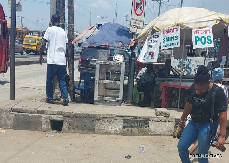 Court affidavits hawking on Lagos street