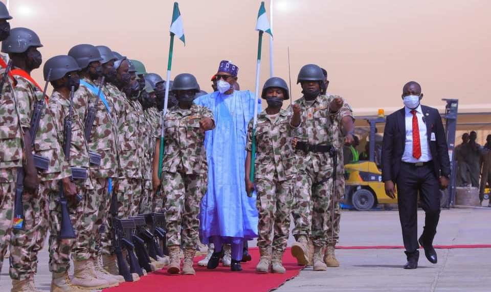 President Buhari Charges Troops To Intensify Actions On The War against Terrorism