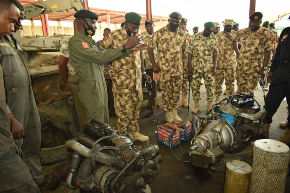 COAS visited the Mechanical Repair Group  [PHOTO CREDIT: @NigerianArmy]