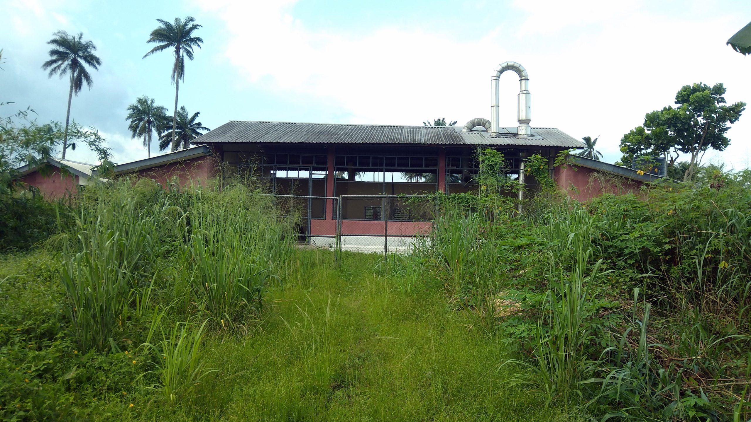 Abandoned cassava processing factory in Ikot Ekang, Abak