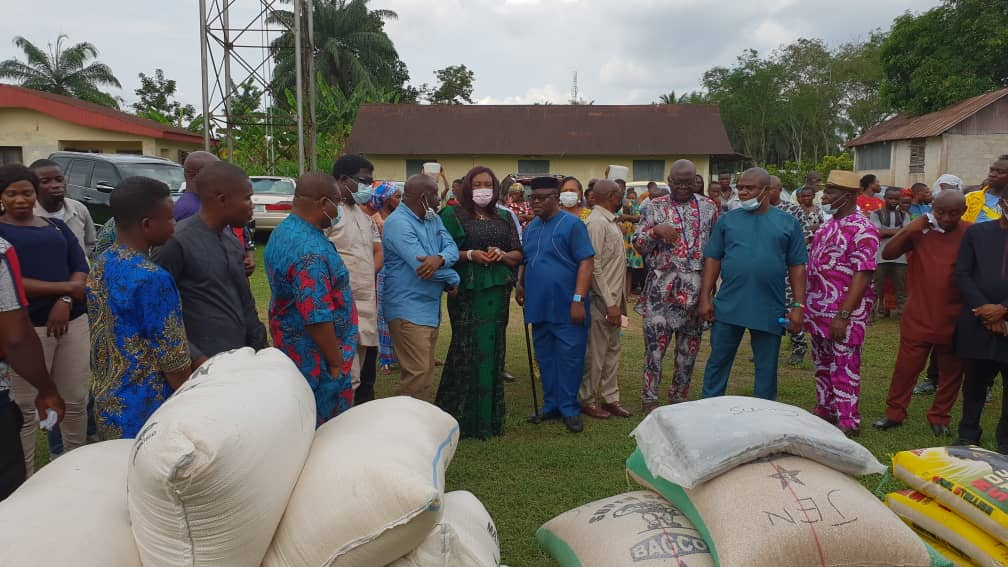 Food items from the foundation to internally deplaced persons in Akwa Ibom