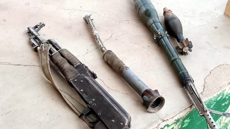 PHOTOS: Some of the locally fabricated armored plated vehicles and weapons the Army recovered from ISWAP