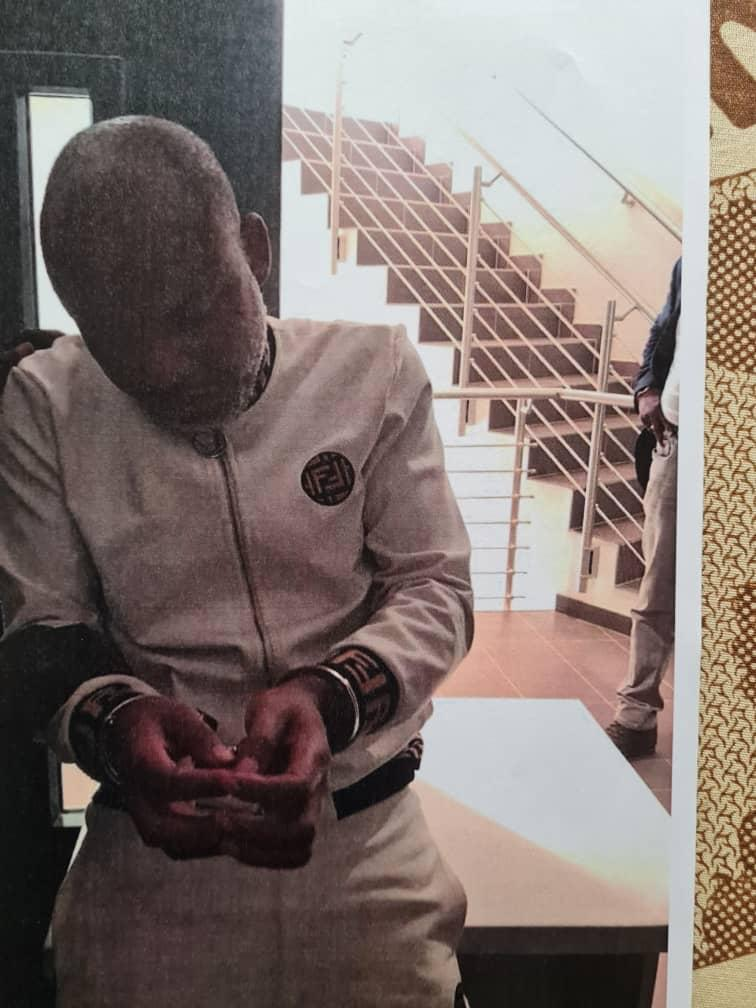 Nnamdi Kanu in handcuffs