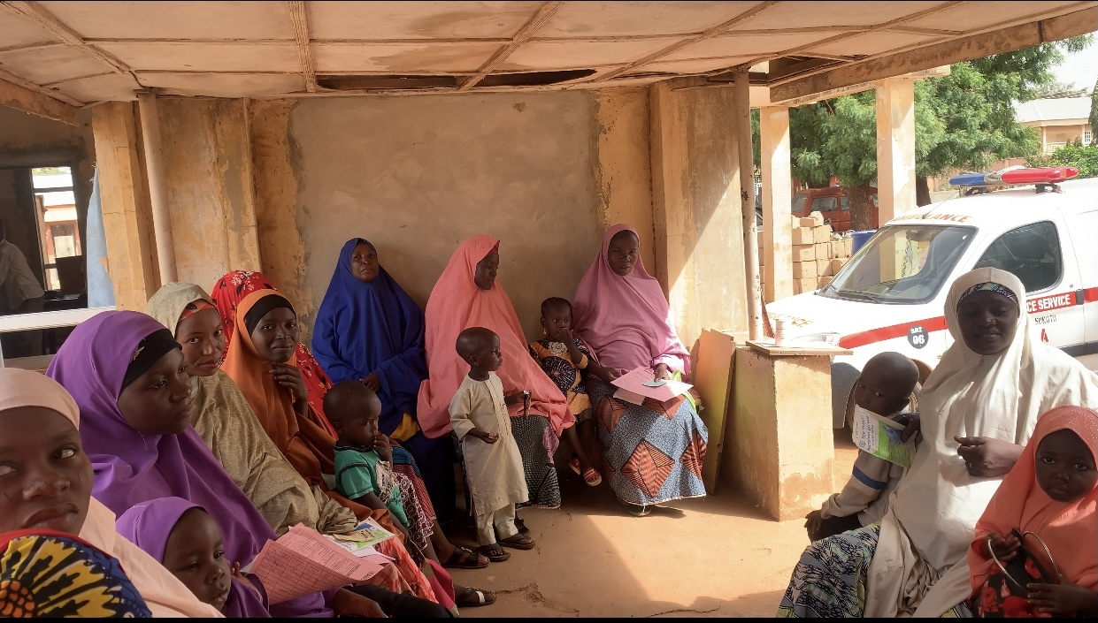 cross section of pregnant women at their antenatal clinic in Mabera