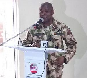 GOC 7 Division addressing Journalists on Sunday in Maiduguri