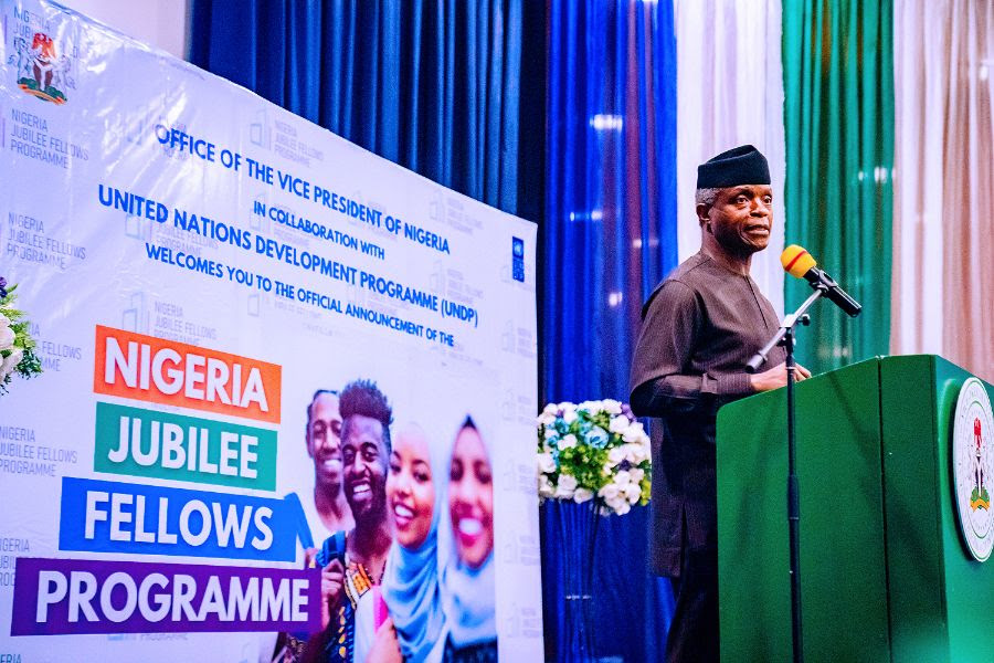 Vice President Yemi Osinbajo SAN attends the Official Announcement of the Nigeria Jubilee Fellows Program at the Transcorp Hilton, Abuja. 2nd June, 2021. Photos; Tolani Alli.