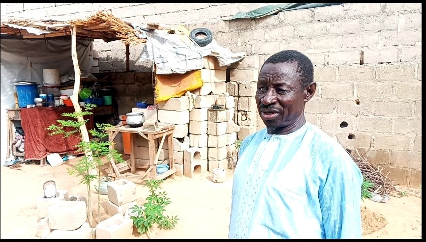 61-year-old Buba Gambo worried over his dispersed farmland at Maita Meleri village, Konduga Local government area which usually yields fortunes for him prior to the start of insurgency