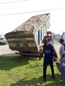 Sand tipper loaded with 3,186 parcels of Cannabis sativa intercepted by Seme Customs command along Seme Badagry expressway.