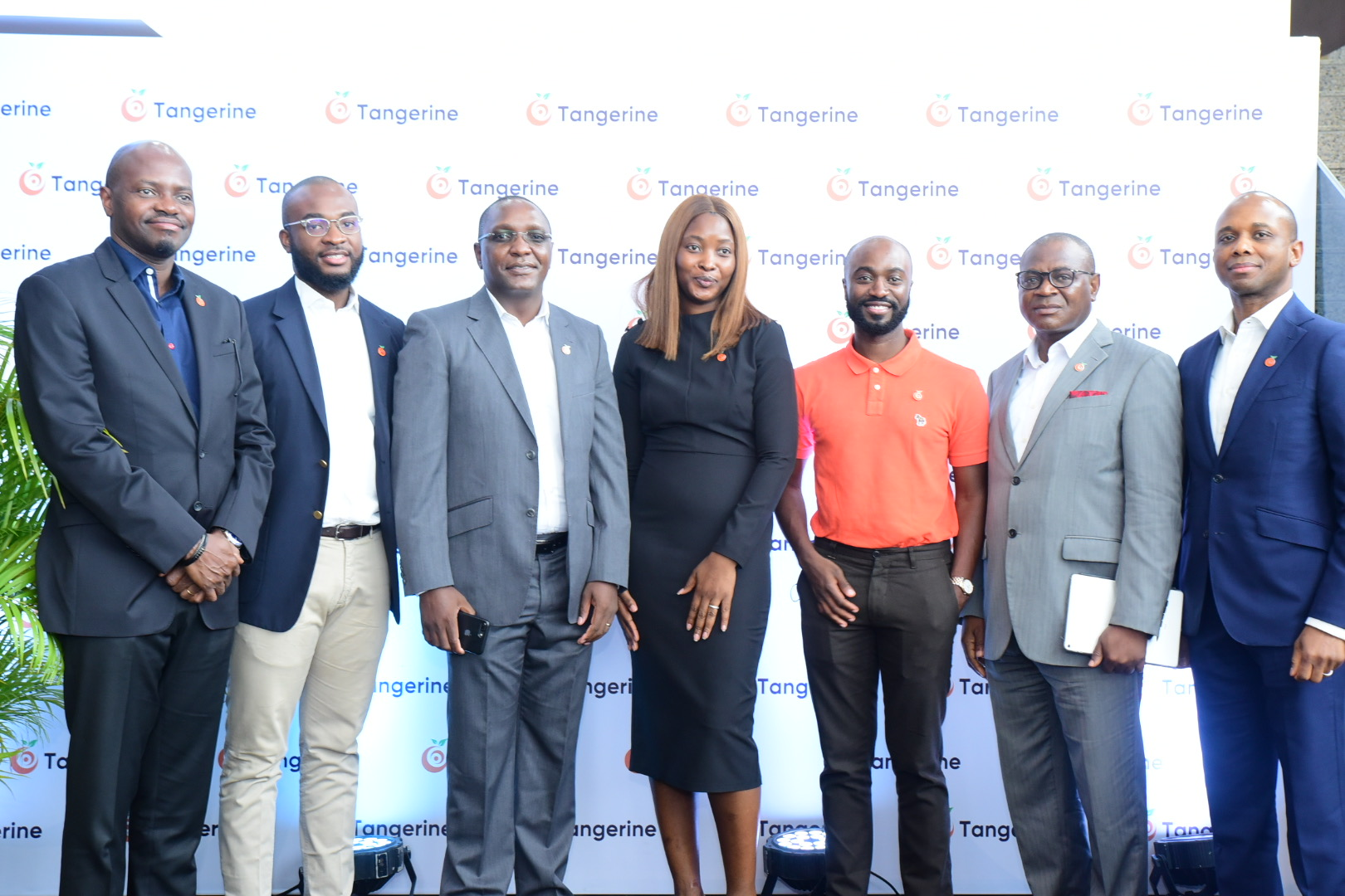 From L-R: Yomi Onifade , Head Operations, Tangerine Nigeria, Ibitunde Balogun, Head Commercial, Tangerine Nigeria, Livingstone Magorimbo, Head Life Insurance, Labisi Adesokan, Head Brand and Communications, Tangerine, Akinseye Akinola - Head Banking Services, Tangerine Nigeria , Ademayowa Adeduro, Head General Insurance, Tangerine Nigeria & Dapo Akisanya, Head Pensions, Tangerine Nigeria at the Tangerine official launch press conference held on Wednesday 7th July, 2021.