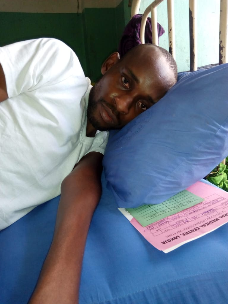 Suleiman developed bedsore as he has been bedridden for eight years after a spinal cord injury.